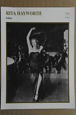 (S41) STARFILMKARTE - Rita Hayworth - Gilda