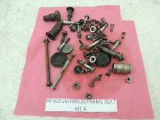 96 SUZUKI RM125 RM 125 FRAME BOLTS MISCELLANEOUS NUTS PARTS STUFF A