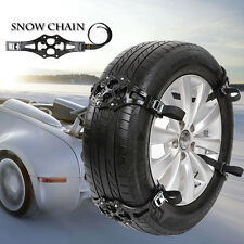 4pcs Easy Install Simple Winter Truck Car Snow Chain Tire Anti-skid Belt Black
