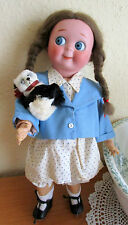 "13 ""  Kestner Googly Googlie bisque doll - with real fur panda bear/Germany"