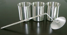 3 Edelstahl Dosen+Flammenkiller NEU Brenngel Bio Ethanol Ethanolkamin Kamin