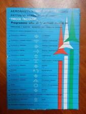 AERONAUTICA MILITARE ITALIANA FRECCE TRICOLORI programma volo volantino aereo