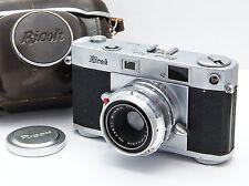 Vintage/Rare RICOH 500 35mm Rangefinder ft. Riken Ricomat 45mm f2.8 Lens & Case