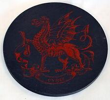 Welsh DRAGON  design Welsh Slate PAN / TEAPOT / PLANT STAND,   Cymru/ Wales