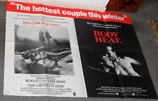 BODY HEAT/LADY CHATTERLY'S LOVER orig rare poster SYLVIA KRISTEL/WILLIAM HURT