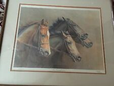 "Fred Stone Lithograph Signed Limited Edition Framed horses ""Thoroughbreds"" Nice"