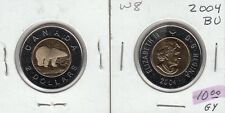 W8 CANADA $2.00 COIN TOONIE 2004 BU FROM A ROYAL CANADIAN MINT SET - PERFECT