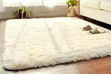 US Soft Fluffy Rugs Anti Skid Shaggy Rug Dining Home Bedroom Carpet Floor Mat