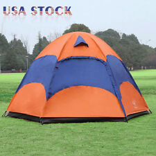 5-8 Person Waterproof Family Instant Tent Double Layer Hiking Camping Outdoor