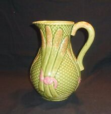"BORDALLO PINHEIRO CALDAS DE RAINHA  MAJOLICA  64 OZ. ASPARAGUS PITCHER ""PERFECT"""