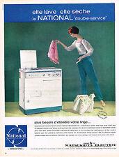 PUBLICITE   1962   MATSUSHITA  lave linge & séche linge