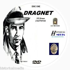 DRAGNET - 373 Shows Old Time Radio In MP3 Format OTR 2 DVDs - Starring Jack Webb