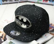 Batman Metal Adjustable Baseball Snapback Hip-hop Cap Flat Hat Cosplay Comics