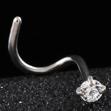 Surgical Steel Crystal Nose Screw Stud Nose Ring Piercing Body Jewelry 20gauge