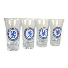 Official Chelsea FC Football Soccer Shot Glass Set Shooter Tumbler - 4 Pack