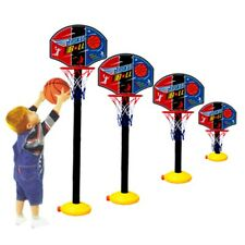 Kids Sports Portable Basketball Toy Set with Stand Ball & Pump Toddler Baby GU