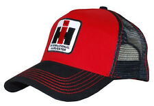 INTERNATIONL HARVESTER *RED & BLACK* Logo TRUCKER MESH BACK Hat Cap *NEW!* IH19
