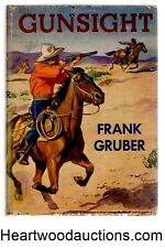 Gunsight by Frank Gruber FIRST Fred Rodewald Art Cover