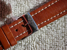 GENUINE BREITLING TAN CALF WATCH STRAP 16 MM INCLUDING BREITLING BUCKLE