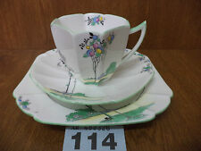Vintage Shelley BALLOON TREE - Queen Anne Shape Tea Trio - Cup / Saucer / Plate