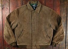 VTG RALPH LAUREN POLO BROWN SUEDE LEATHER HARRINGTON BOMBER DRIVING JACKET 40/42