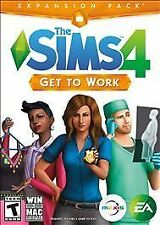 The Sims 4: Get to Work Expansion Pack for PC Windows Mac - NEW