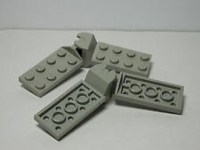LEGOS - 2 Hinge Plates 2x4 Articulated Joint Complete Assembly Light Gray
