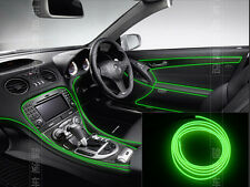 2M 12V Auto Interior Trim Panel Edge Green Atmosphere Cold Light Lamp Line Strip
