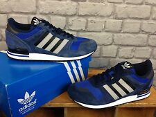 ADIDAS MENS UK 10 EU 44 NAVY GREY ZX FLUX 700 SUEDE TRAINERS RRP £70