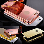 Aluminum Metal Frame + Plastic Mirror Back Case For iPhone 6s Samsung S7 Sony Z5