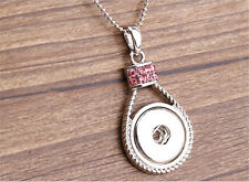 DIY Genuine Crystal Alloy Pendant for Fit Noosa Necklace Snap Chunk Button WC003