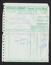 """PARIS (IX°) USINE de NOISIEL / CONFISERIE & CHOCOLAT LOMBART """"AU FIDELE BERGER"""""""
