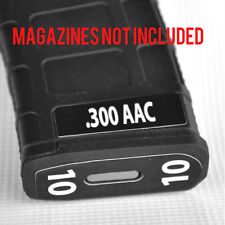 .300 AAC MAG STICKERS fits MAGPUL PMAG 30 GEN M3 AR15-M16-M4 WHITE NUMBERS 7-12