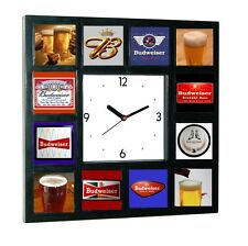 History of Budweiser beer with 3d 1/1 images Clock with 12 pictures