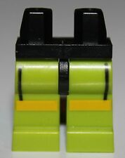 LeGo Black Hips Lime Legs w/ Black Lines Yellow Stripes Weight Lifter