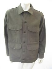 Vintage CC FILSON CO. Green Wool Button Front Jacket UNION MADE Size LARGE