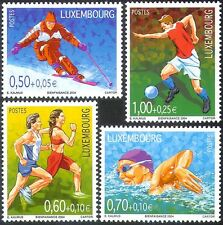 Luxembourg 2004 Sports/Games/Football/Soccer/Skiing/Swimming/Athletics 4v n42744