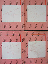 QUEEN  :  4 X 1985 CHRISTMAS CARDS PRE-PRINTED SIGNED AUTOGRAPH FREDDIE MERCURY