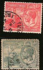 1922 TRINIDAD & TOBAGO INSELN 1 1/2 & 2d KING GEORGE V ZWEI GEBRAUCHT BRIEFMARKE
