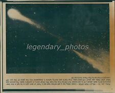 1986 Comet Halley with Hole in Tail Original Laserphoto
