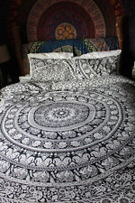 Elephant Mandala Bedspread Indian Bedding Bed Cover With 2 Pillow Bohemian Throw