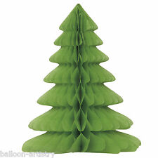 """12"""" Christmas Party Green Festive TREE Honeycomb Table Centrepiece Decoration"""