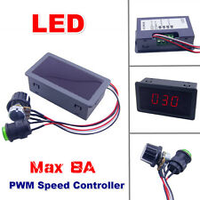 DC6-30V 12V 24V Max 8A Motor PWM Speed Controller With Digital Display Switch F7