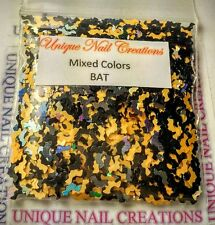 Solvent Resistant BAT Shape MIXED COLORS ~ Nail Art/Acrylic/Gel/~ USA