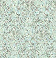 "12""/31cm Wallpaper SAMPLE A Street Prints Gypsy Turquoise Damask"