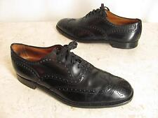 Brooks Brothers Shoes 10 D Black Leather England Wingtips Oxford Dress Euro 43