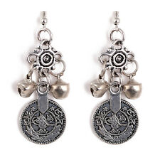 New Fashion Silver Turkish Bell Coin Boho Gypsy Beachy Ethnic Tribal Earrings