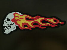 Dead Head scull & Flames patch backpatch xl 25,5x9,5cm MC scull Biker Blouson