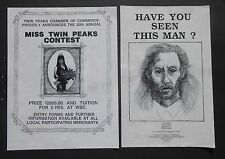 TWIN PEAK FLYERS - MISS TWIN PEAKS AND BOB WANTED POSTER