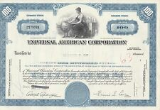 MDS USA UNIVERSAL AMERICAN CORPORATION 100 SHARES 1968 COMMON STOCK